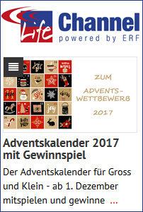 Adventskalender 2017, online und mit Gewinnspiel