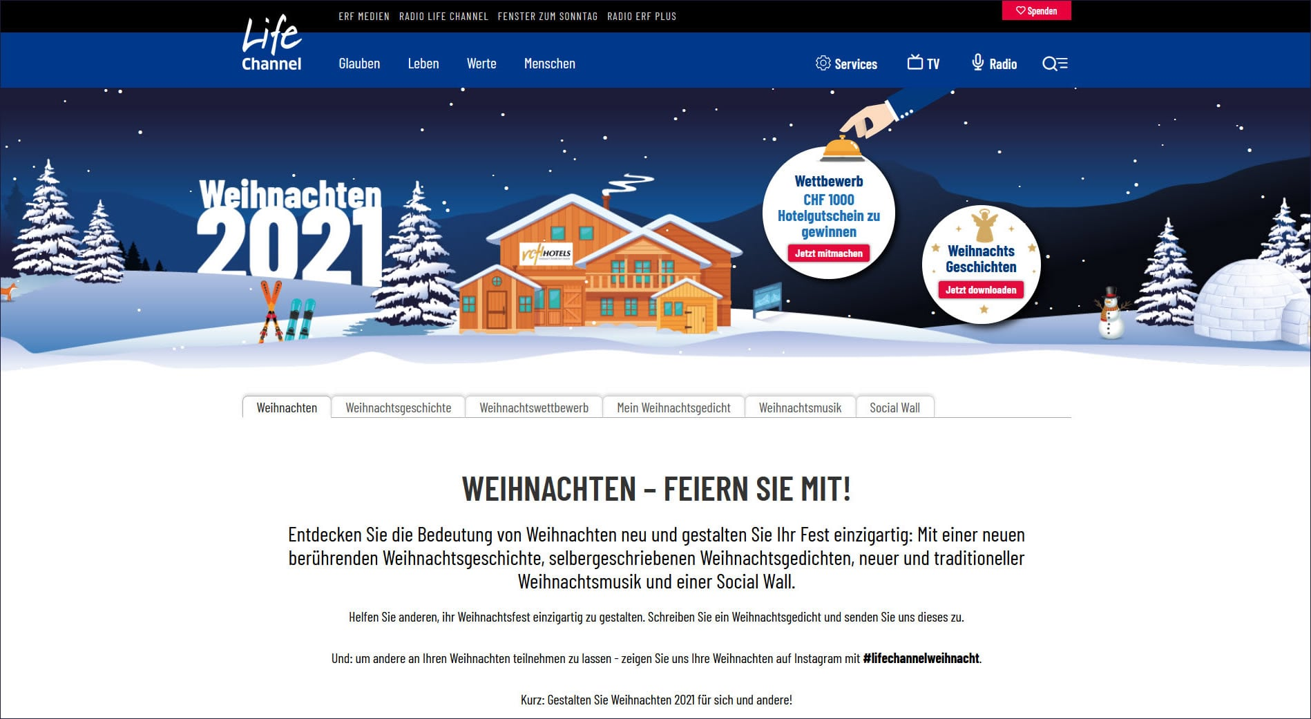 Weihnachten 2021 - jetzt das Weihnachtsfest planen